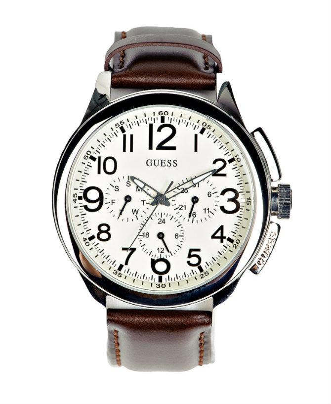 Актуальные часы с кварцевым механизмом на кожаном браслете, созданы для стильных мужчин, ценящих сво